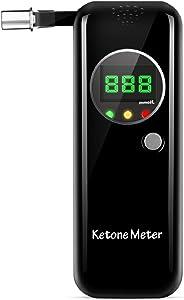 Ketosis Breath Analyzer, Digital LCD Keto Meter Breathalyzer with 10pcs Mouthpieces-Black