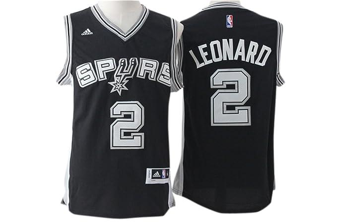 ef4e75d4dd9d ... low cost real spurs 2 kawhi leonard black swingman jersey size m jerseys  amazon canada a6748