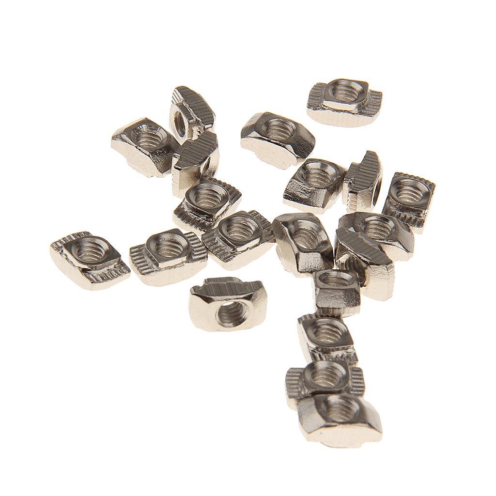 T Ranura de la Tuerca T Bloque de Tuerca Deslizante para 20 Series de Perfiles de Aluminio Modelo Ranura M4 Generic STK0151006738