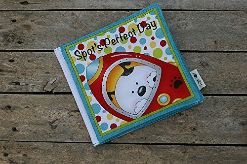 Fabric book Spot's perfect day, First baby book, Cloth soft plush book, 21x20cm, 10 pages