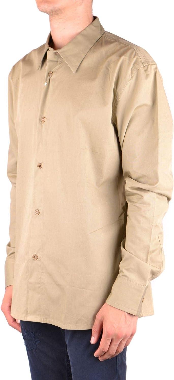 Bikkembergs Luxury Fashion Mens MCBI34509 Brown Shirt Season Outlet