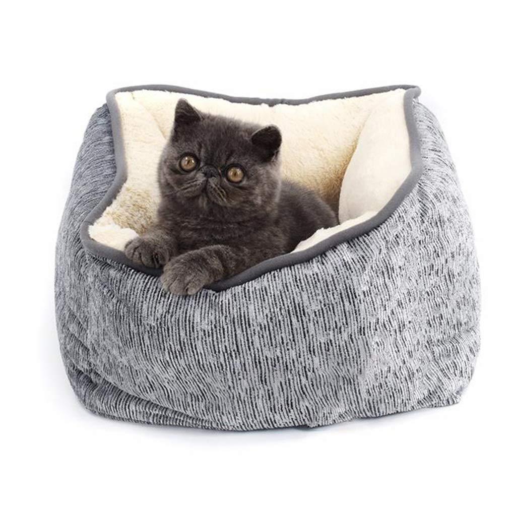 JXLBB Ciniglia di Velluto Coral Winter Deep Sleep Quadrato di Spessore Caldo Cat Litter Pad Pet Bed