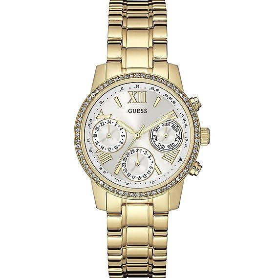 Guess W0623L3 - Reloj con correa de acero, para mujer, color dorado: Amazon.es: Relojes