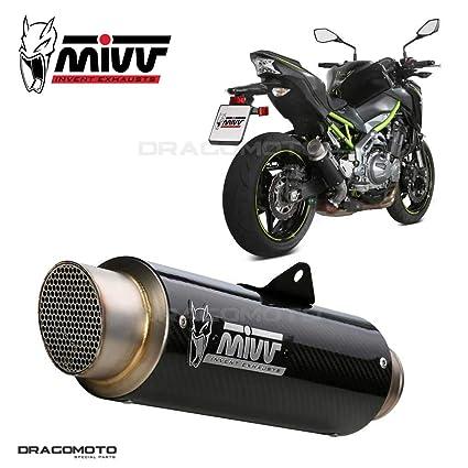 Motodak Silencioso MIVV GP-Pro Carbono/Gorra Acero Inoxidable Kawasaki Z900