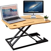 ZHU CHUANG Stand Up Desk Standing Desk Converter Gas Spring Sit Stand Desk Workstation Sit to Stand Desk Riser 100…