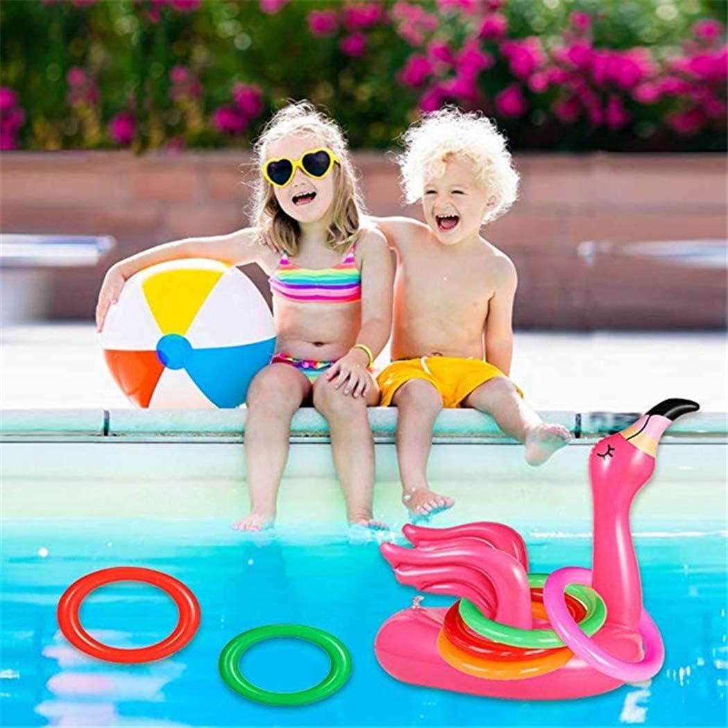 Joyibay Ring Werfen Spielzeug Aufblasbar Flamingo Ringwurfspiel-Set Spiel Im Freien Mitbringsel F/ür Kinder