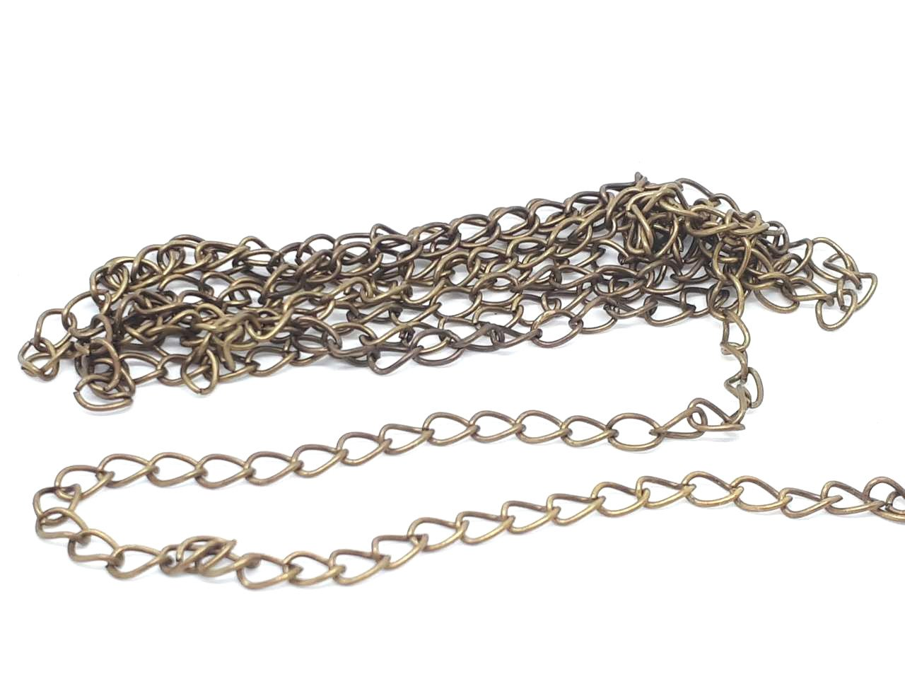 2 meters CHAIN SILVER 1,5 x 2 mm VERY FINE JEWELRY CREATION BEADS