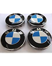 Set of 4 bmw centre wheel cover caps rim badge hub logo emblem