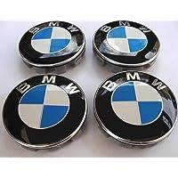 Set of 4 bmw centre wheel cover caps rim badge hub logo emblem