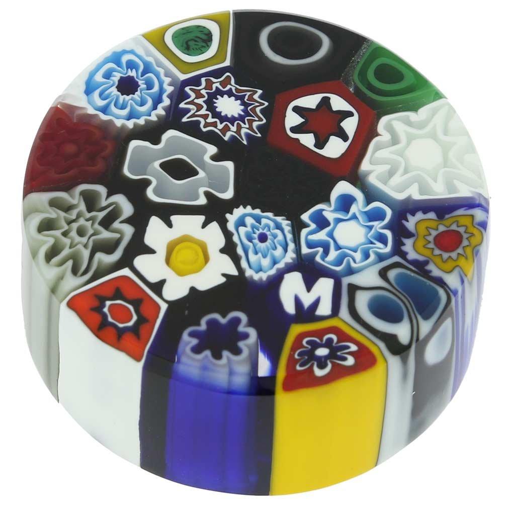 GlassOfVenice Murano Glass Millefiori Round Paperweight - Small by GlassOfVenice