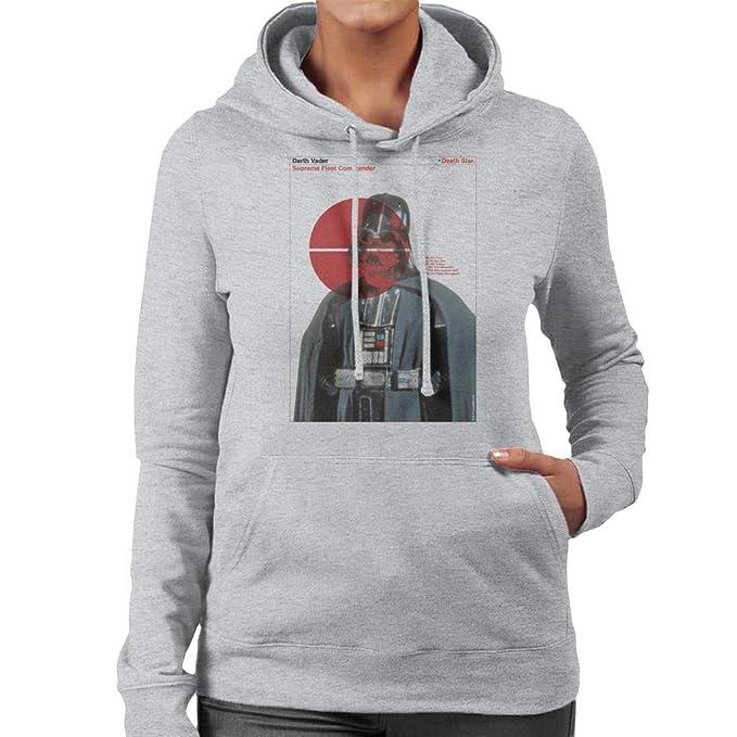 Star Wars Darth Vader Supreme Fleet Commander Womens Hooded Sweatshirt