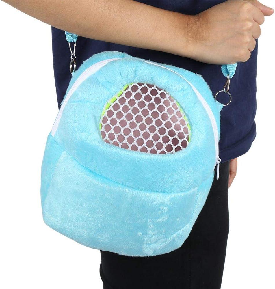 bolsa de mano en forro polar para conejillo de indias erizo ardilla chinchilla h/ámster transpirable X-zoo Bolsa de transporte para animales peque/ños transparente para jugar a descansar