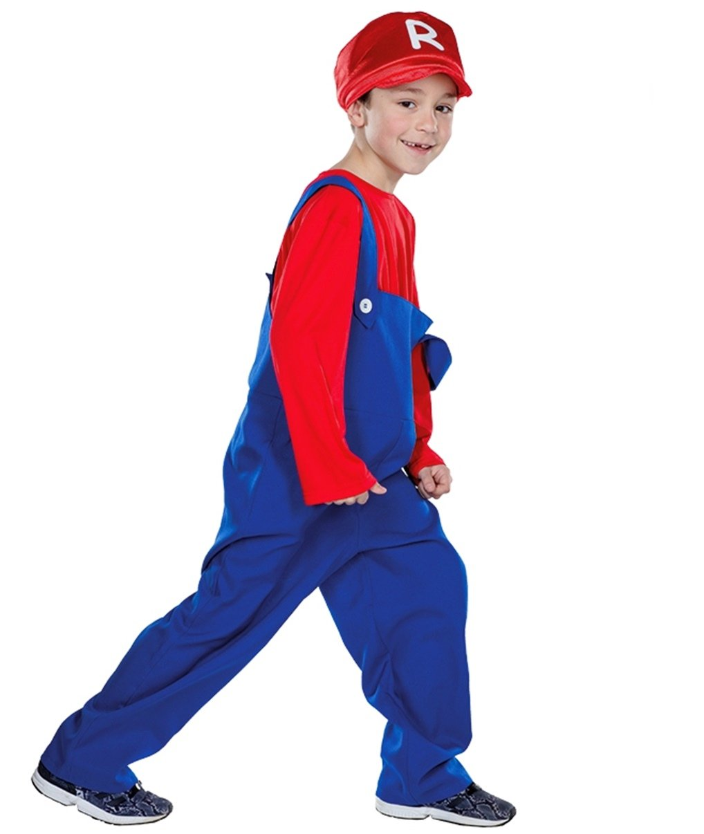 Niños Disfraz Super Mario Racer tamaño 122 128 134 140 146 aprox ...