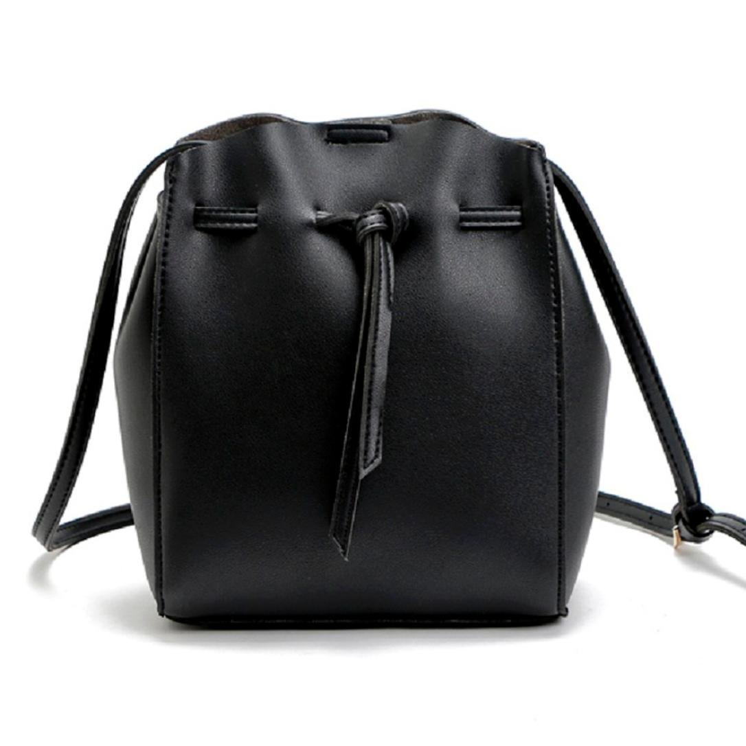 Bolso Bandolera Bolsa de hombro de Piel Grande Negro para Mujer y Shoppers por ESAILQ Z: Amazon.es: Equipaje