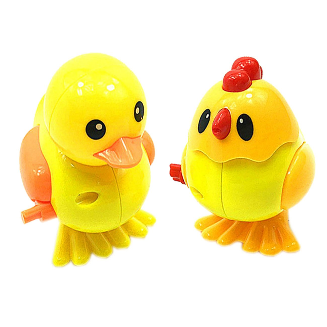 Wind-up Jumping Chicken +Duck Assortment Jumping Animals Chain Toy for Infant,Clockwork Toys, Children's Puzzle Toys, Emotional Interactive Toys,Strong Activity, the Best Gift for the Child.