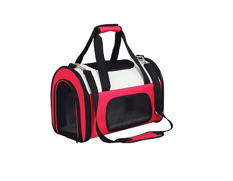 41 * 24 * 28センチ屋外ペットバックパック猫バックパックペット多機能折りたたみ旅行バックパックポータブルピンクオックスフォード布ハンドバッグ