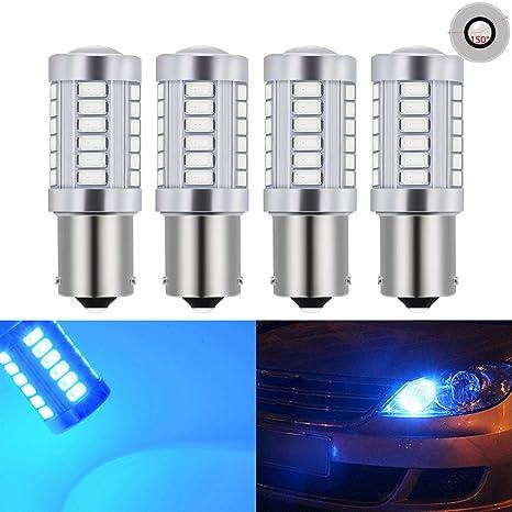 Paquetes de bombillas de repuesto LED blancas de 900 lúmenes y 8000 K, muy brillantes, para las ...