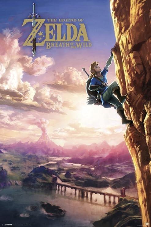 FREE P+P CHOOSE YOUR SIZE Zelda Poster Legend of Zelda Breath of the Wild 2017