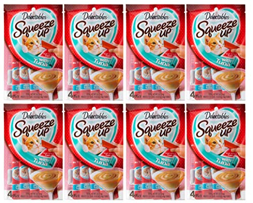 Delectables Squeeze Up Interactive Wet Cat Treats - Tuna - 32 Tubes