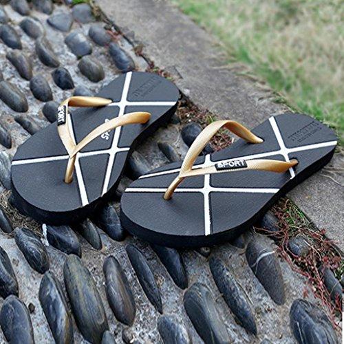 Infradito Unisex Uomo Estate Donna Infradito Pantofole Sandali Da Spiaggia Per Il Tempo Libero Scarpe Oro