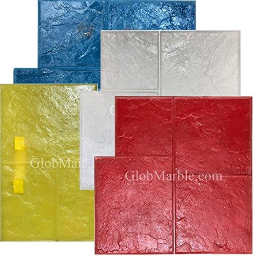 5 Piece Ashlar Slate Stone Stamp Set GlobMarble SM 3001 by GlobMarble