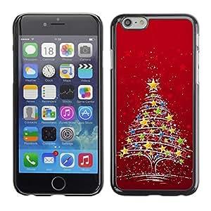 YOYO Slim PC / Aluminium Case Cover Armor Shell Portection //Christmas Holiday Red Star Tree 1192 //Apple Iphone 6 by icecream design