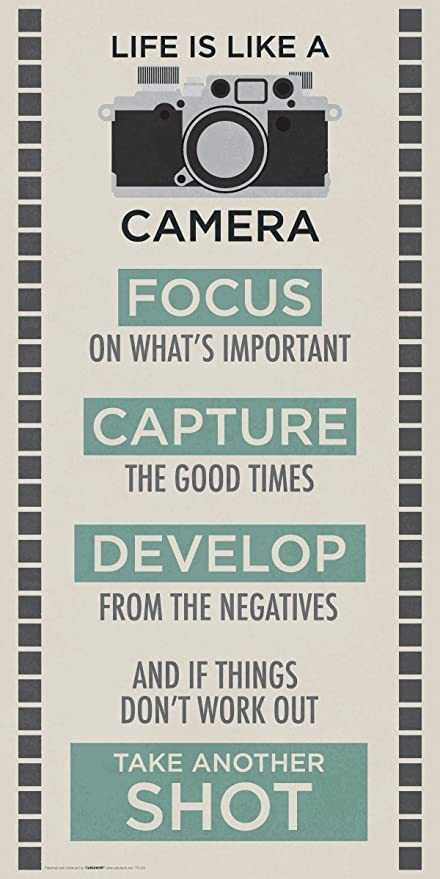AmazonCom Life Is A Camera Inspirational Motivational Photography
