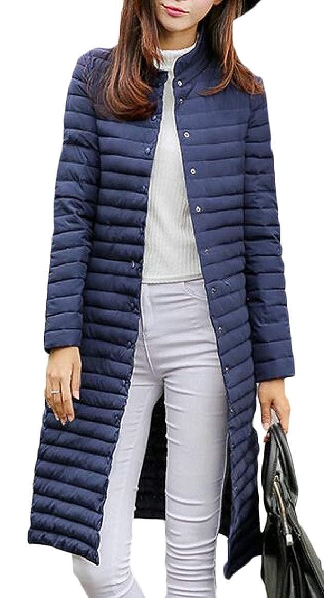 1 pujinggeCA Womens Slim Light Weight Long Puffer Down Parka Jacket