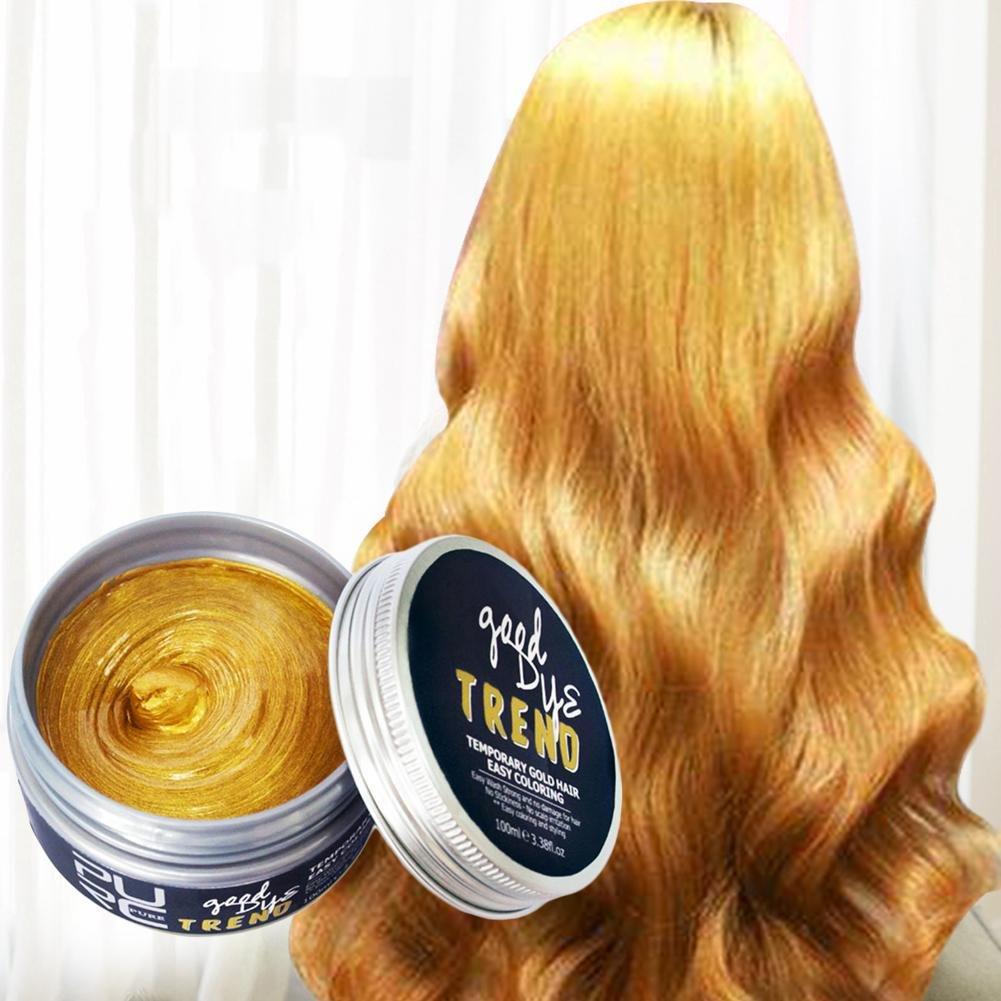 –Tinte para el cabello Mode Lavado Bar 7colores color del pelo pomaden Cera barro Colorante Styling Crema desechables DIY Matte duradera cabello Cera para hombres y mujeres PURC
