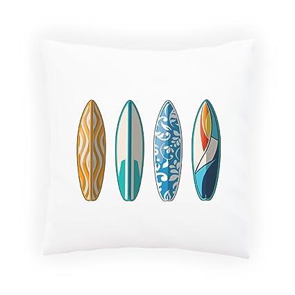 Tabla Surf Surf Almohada decorativa, Funda de cojín con inserto o sin, 45x45cm p626p