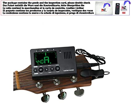Afinador de Guitarra Eléctrica Metrónomo de Guitarra Micrófono ...
