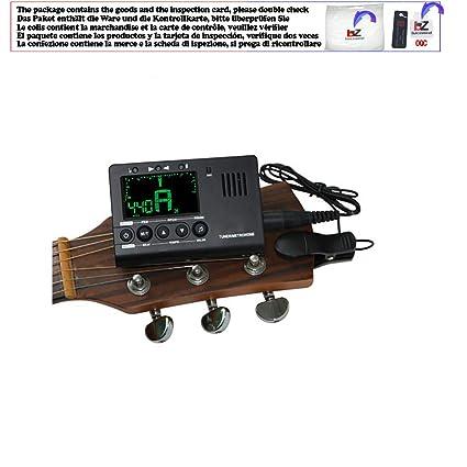 Afinador de guitarra eléctrica con metronomía integrado con ...