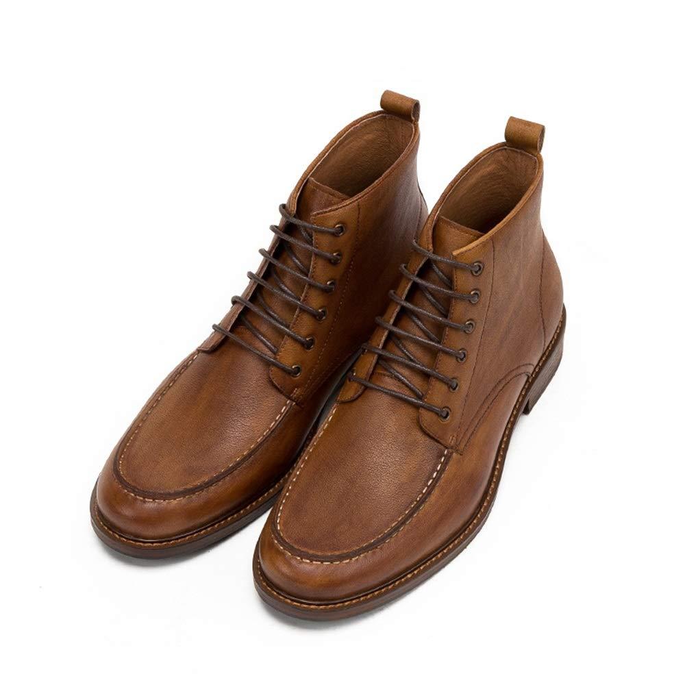 ZHRUI Lace up Chukka Chukka Chukka Stiefel für Männer Klassische Mode weiche Sohle Durable Comfort Stiefel (Farbe   Braun, Größe   EU 40) 2d7ab5