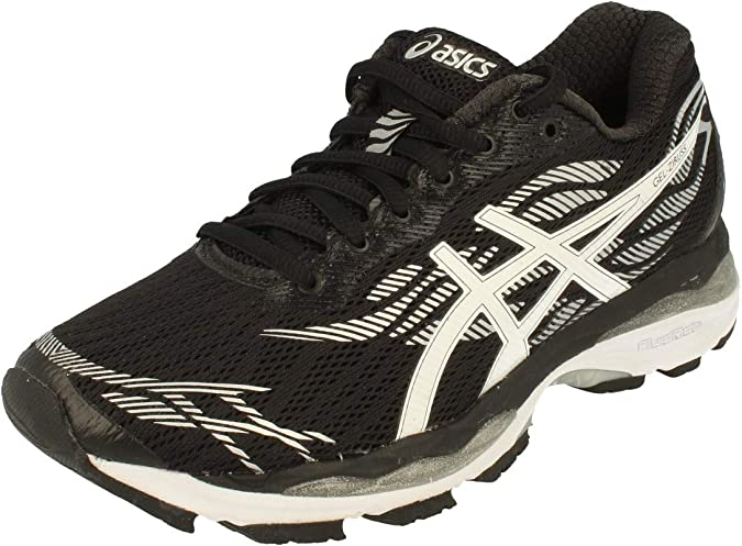 Asics Gel-Ziruss Mujeres Running Trainers T7J6N Sneakers Zapatos (UK 9.5 US 11.5 EU 44, Black White Silver 9001): Amazon.es: Zapatos y complementos