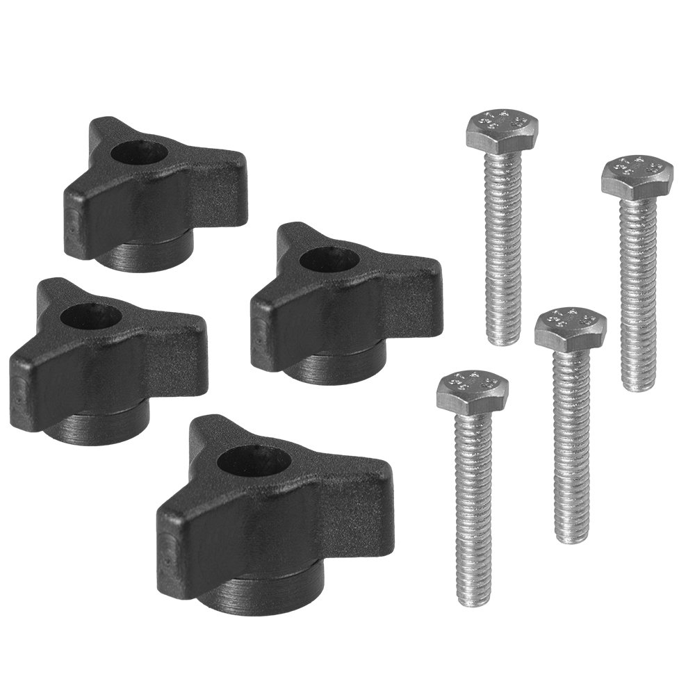 1/4 x 20 Star Knob and Bolt - 4 Pack by Peachtree Woodworking - PW6111