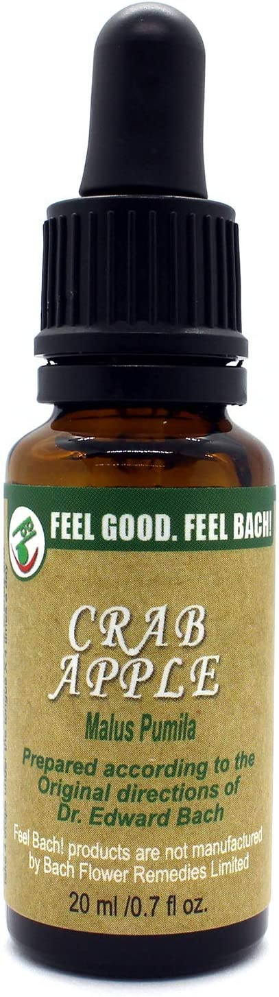 Feel Bach! Flower Essence Dropper Crab Apple, 20ml, 0.7 Fl Oz