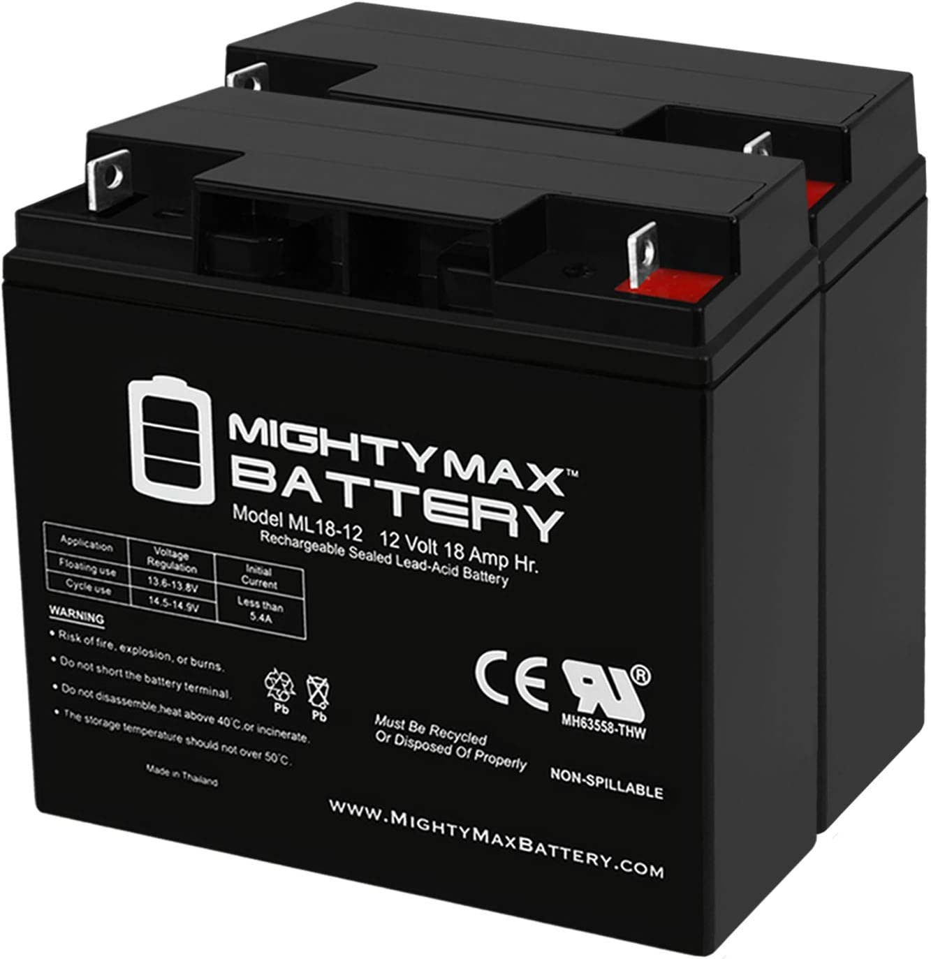 Mighty Max Battery 12V 7Ah SLA Battery Replacement for APC SU1400RM 8 Pack Brand Product