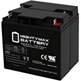 Mighty Max Battery ML18-12 - 12 Volt 18 AH SLA Battery - Pack of 2 Brand Product