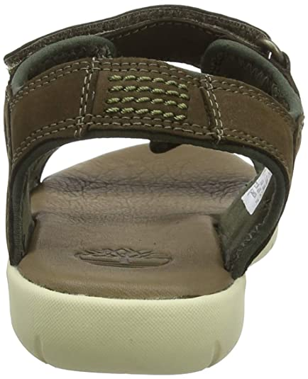 d124a2a3187 Timberland Unisex Kids' Nubble Leather 2 Strap Open Toe Sandals:  Amazon.co.uk: Shoes & Bags