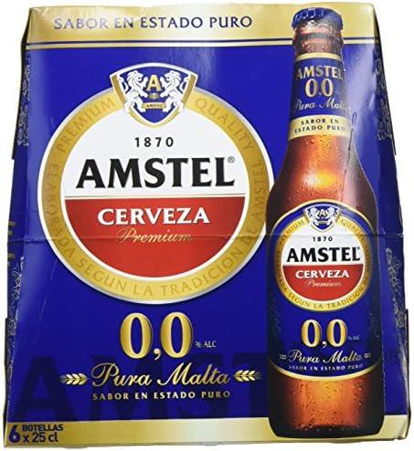 Amstel 00 Cerveza - 4 Packs de 6 Botellas x 250 ml - Total: 6 ...