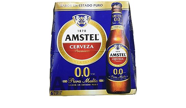 Amstel 00 Cerveza - 4 Packs de 6 Botellas x 250 ml - Total: 6 L ...