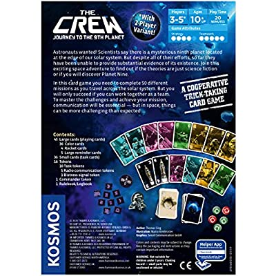 The Crew | A Cooperative Space Adventure Card Game for 3 to 5 Players  | A Kosmos Game | Embark on 50 Missions as a Team in Your Quest for Planet Nine | Ages 10 and up | Trick-Taking Game: Toys & Games