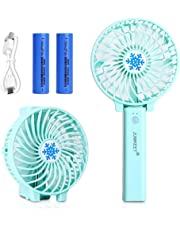 JUMKEET Mini Handheld Fan, Personal Portable Desk Stroller Table Fan with USB Rechargeable Battery Operated Cooling Folding Electric Fan for Office Room Outdoor Household Traveling Pin