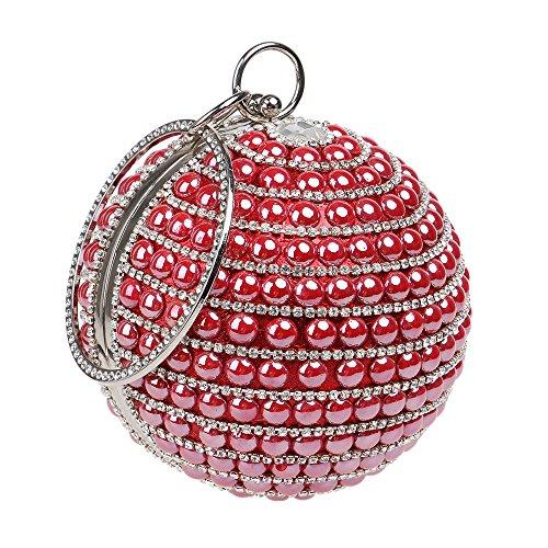 Mesdames GODW Clutches Ball à Mariage Red Main Sac Partie SoiréE Pochettes Diamant Sac Prom à Sac De BandoulièRe d11qxrn