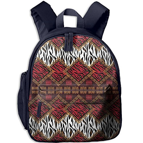 - Mkajkkok African Style Wild Animal Skin Stylized Stripes In Diamond Pattern Tribal Artwork Decorative You Are My Sunshine Backpack 3D Printing School Bag.
