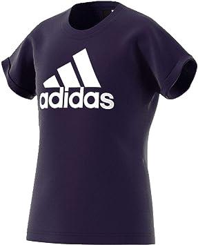 2c026eaeb884 Adidas - YG Logo - T-shirt - Fille  adidas Performance  Amazon.fr ...