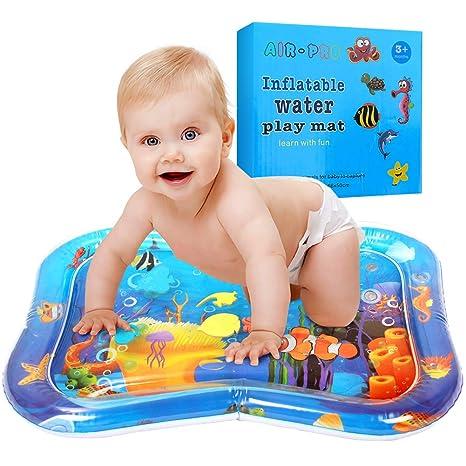 Swonuk Inflatable Water Play Mat 66 * 50, Estera de agua inflable Tummy Time, Diversión, Interior&Exterior Pad para Bebés&Chicos|Gran Tummy Time ...