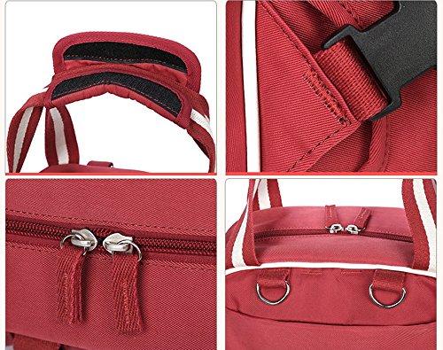 Bolso de múltiples funciones de la mamá, bolso de la madre de los hombros, bolso grande del bebé de la capacidad, bebé fuera del paquete, mujeres embarazadas para ser paquete producido ( Color : Rojo  Naranja