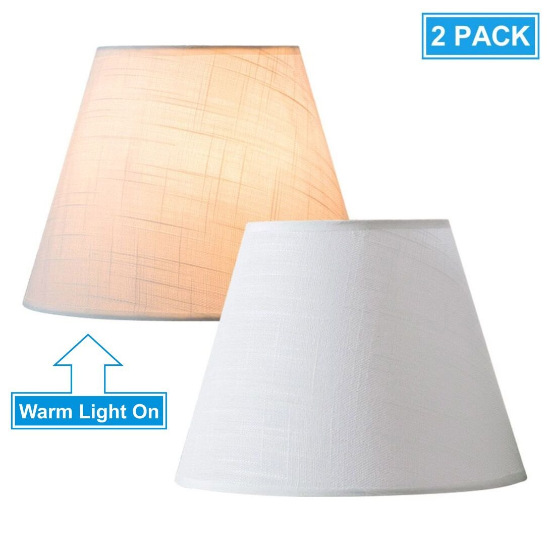 Lamp shades amazon lighting ceiling fans lighting lifeholder lamp shade mini 2 pack small table and desk lamp shade white linen greentooth Choice Image