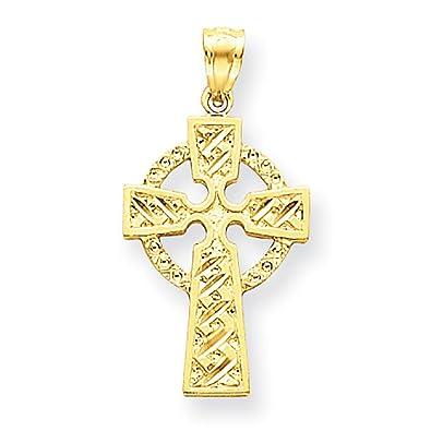 19e223170063 Amazon.com  Jewelry Stores Network 14k Yellow Gold Diamond-Cut ...